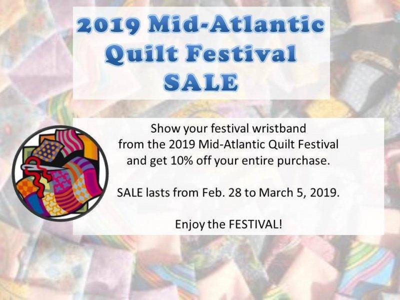 Quilt show sale