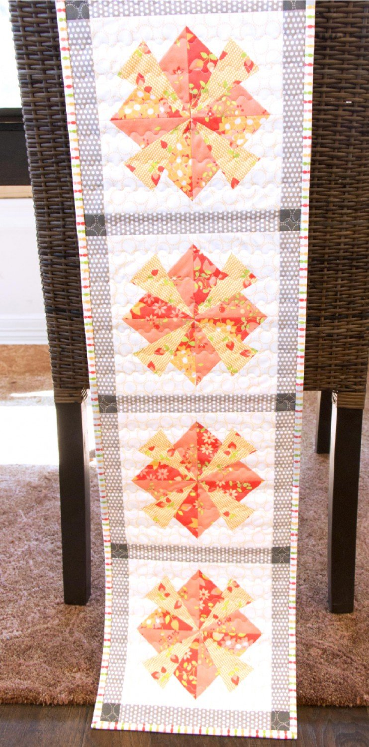 Blooming Sunset Table Runner - Cut Loose Press