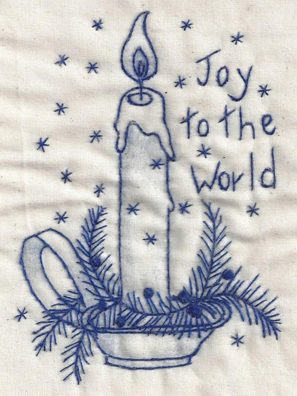 Joy to the World Bluework