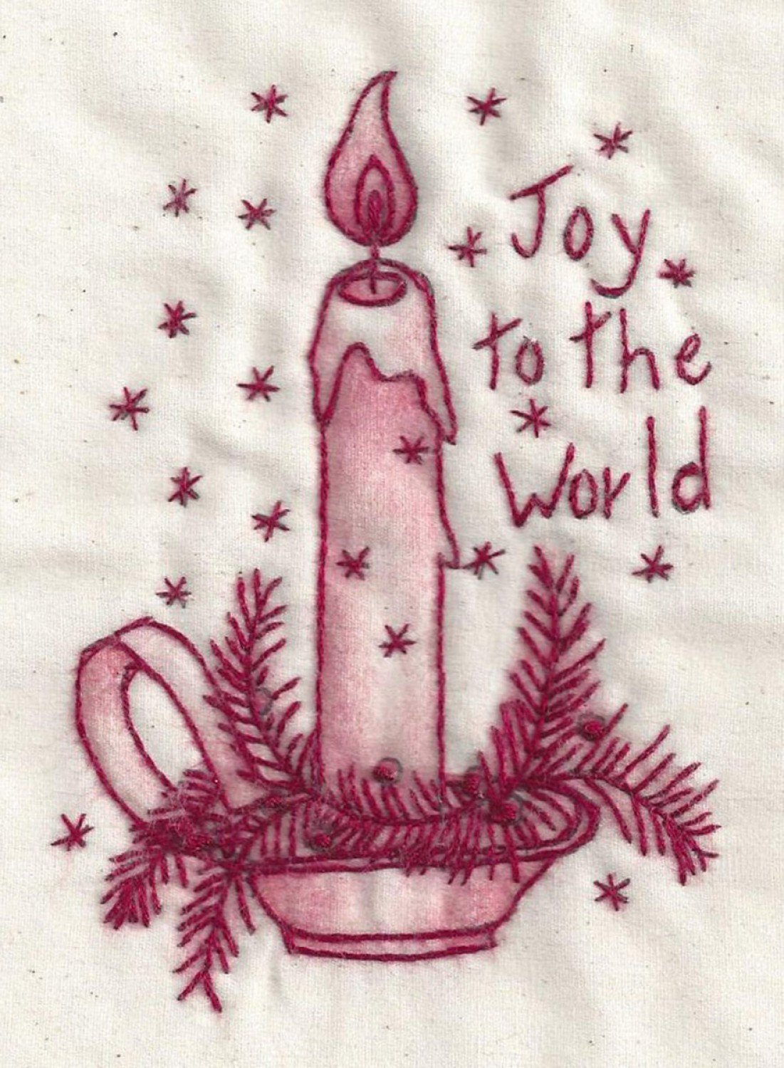 Joy to the World Redwork