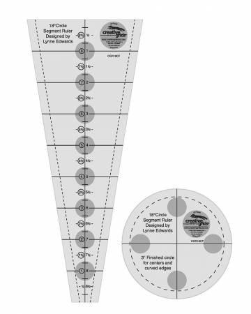 Creative Grids 18 Degree Strip Ruler Dresden Plate Ruler 3 1/2 in.