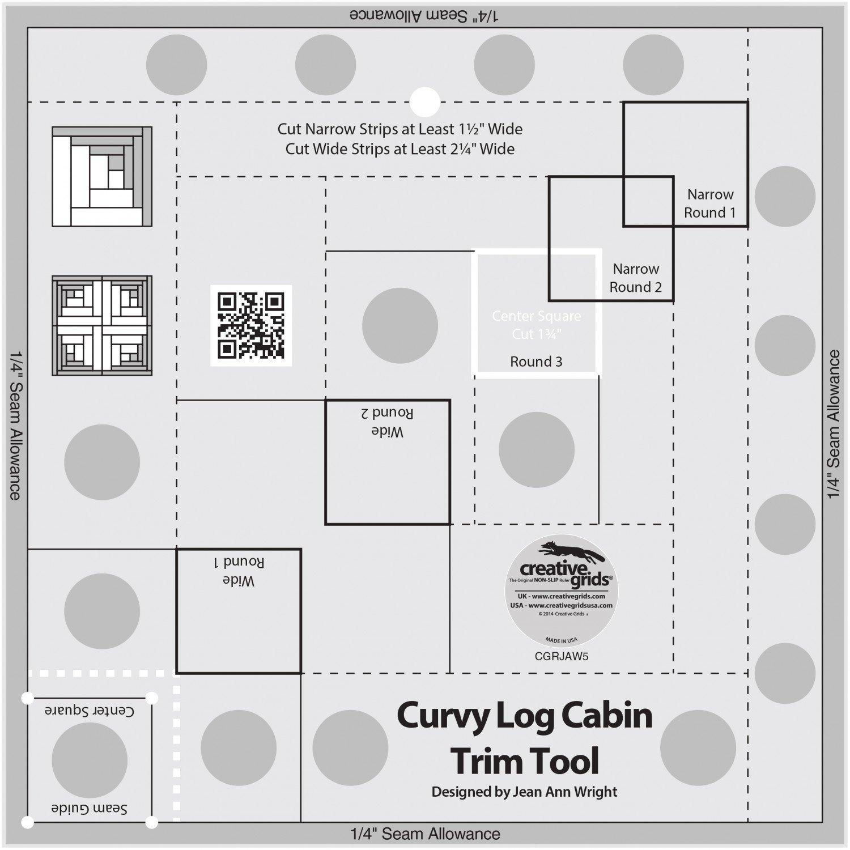 6in Curvy Log Cabin Trim Tool Creative Grids