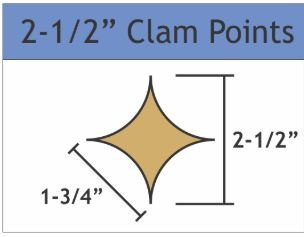 2 1/2 Clamshell Points Small Pack 40 Pieces