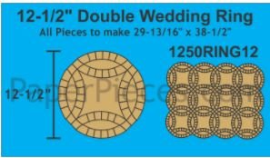 12-1/2 Double Wedding Ring Makes 12 Rings