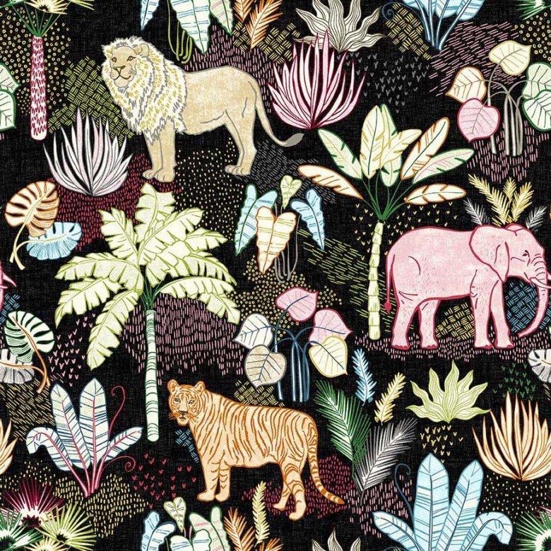 Jungle Vibes Flora and Fauna black