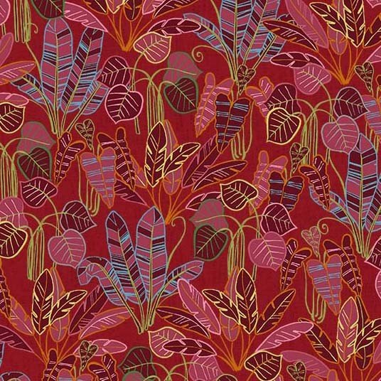Jungle Vibes Rain Forest Red