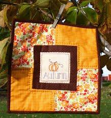 Lady's Autumn Mini Quilt - Olive Grace Studios