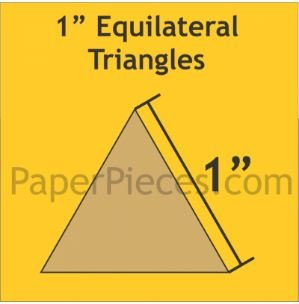 1 Equilateral Triangle Acrylic Fabric Cutting Template