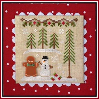 Gingerbread Village Mo.7 Boy & Snowman w/button