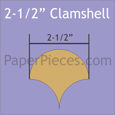 2 1/2 Clamshell Small Pack 40 Pieces