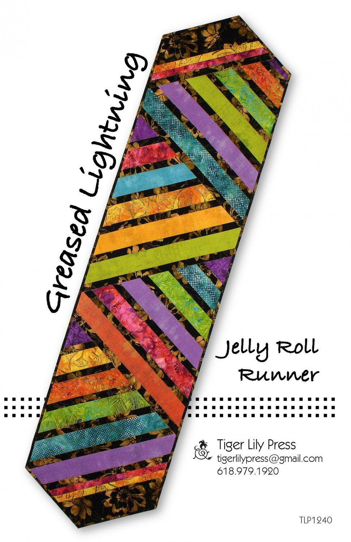 Greased Lightning Jelly Roll Table Runner
