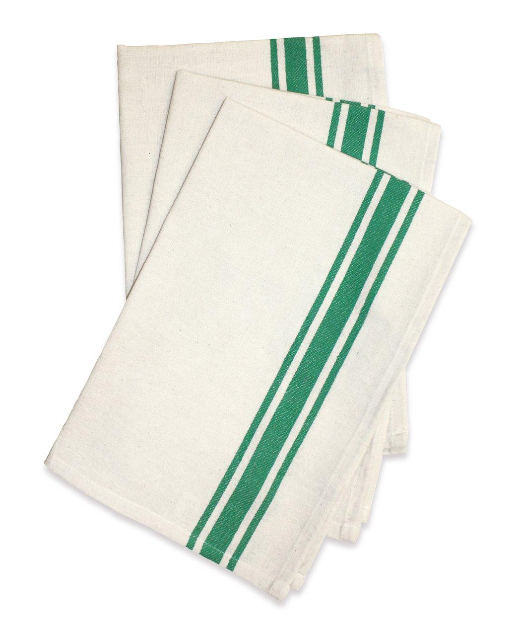 Vintage Striped Green Aunt Martha's