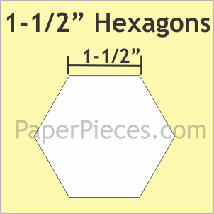 1 1/2 Hexagon w/ 3/8 Seam Allowance Acrylic Fabric Cutting Template