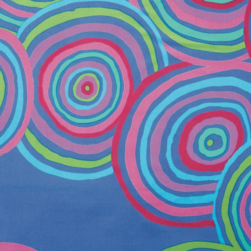 Kaffe Fassett Circles Blue Wide Backing