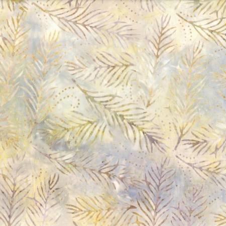 Khaki Delicate Fronds Batik