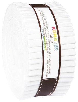 Kona Cotton Roll Up - 40 strips White