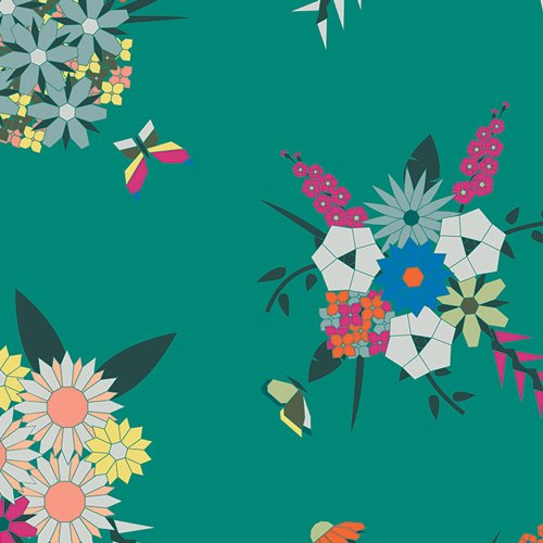 Loved to Pieces Pieced Bunches Wild LPC-2421