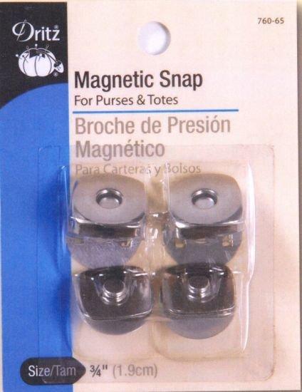 3/4 Magnetic Snaps - Nickle 2 Set Dritz