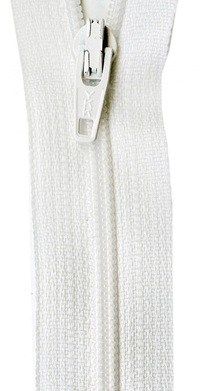 18 Coil Zipper - White YKK Ziplon