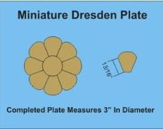 Miniature Dresden Plate Large Pack Makes 18
