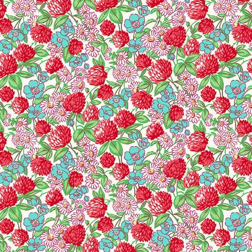 Nanamae V Clover and Daisies Red