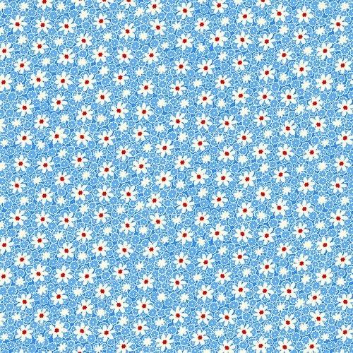Nanamae V Packed Daisies Blue