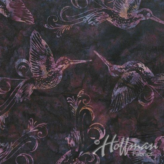 Bali Batiks Hummingbird Plumpudding Q2149-325