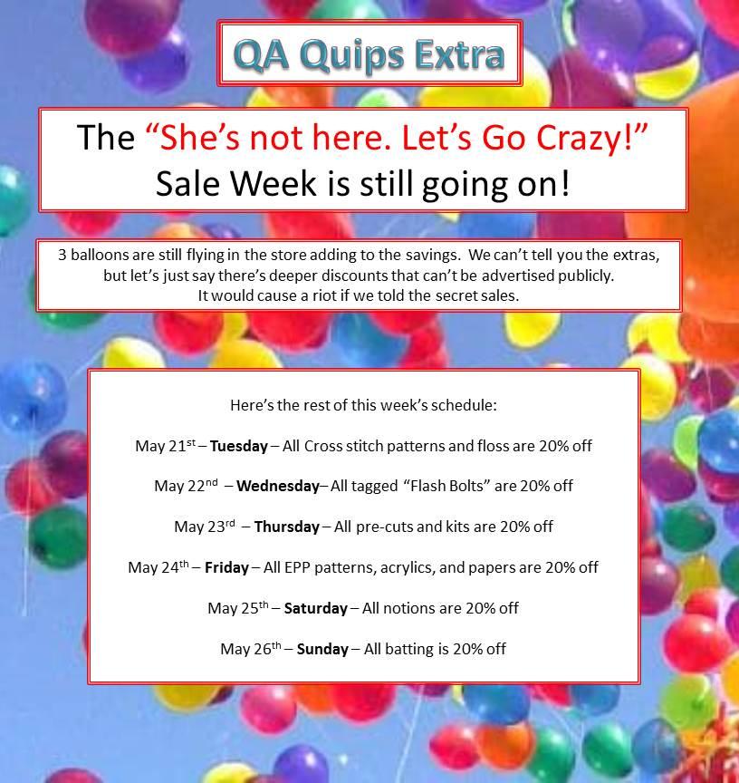 QA Quips Extra Super Sale