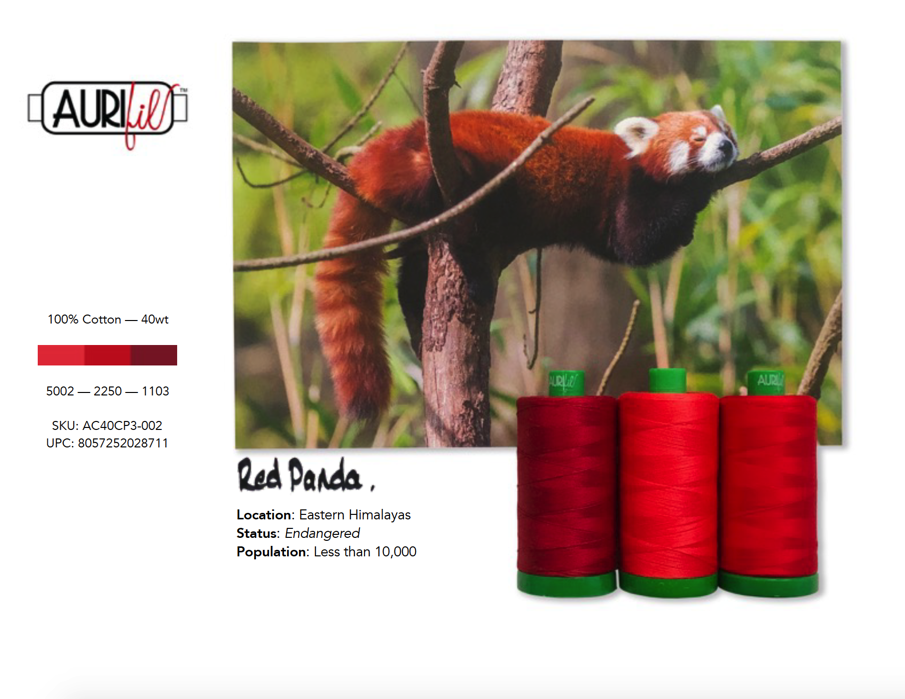 Aurifil 40 wt Color Builder Mo.2 Panda Red