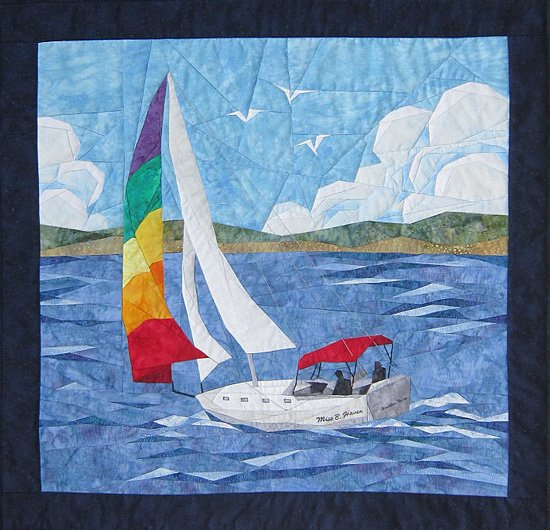 Sailing Away  by Cynthia England