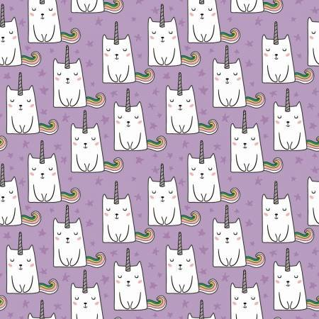 Novelty Caticorn Lilac With Sparkle