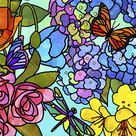 Stained Glass Garden Floral