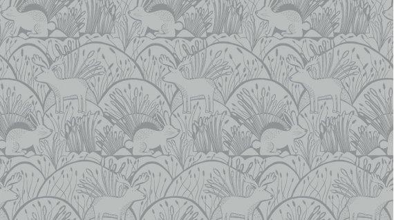 Mumseed Meadow Woodland Etching Grey Stella-560 Grey