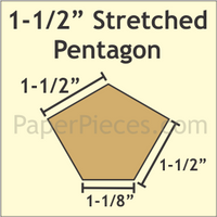 1 1/2 Stretched Pentagon 35 Pieces