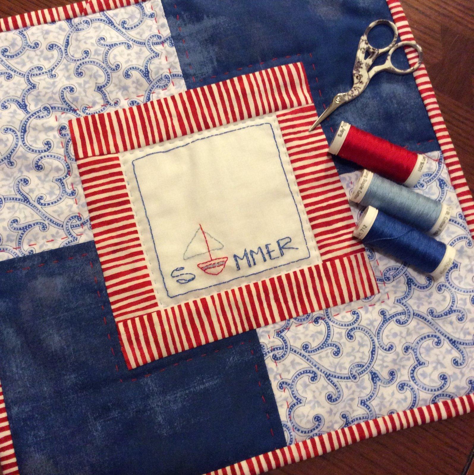 Abby's Summer Mini Quilt - Olive Grace Studios