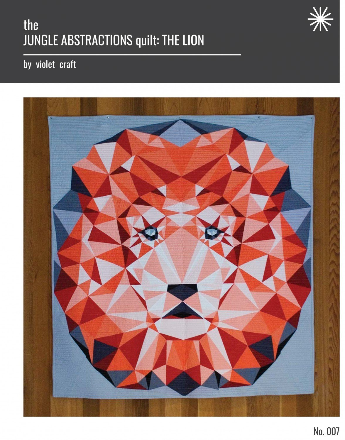 Lion Jungle Abstractions Quilt Violet Craft