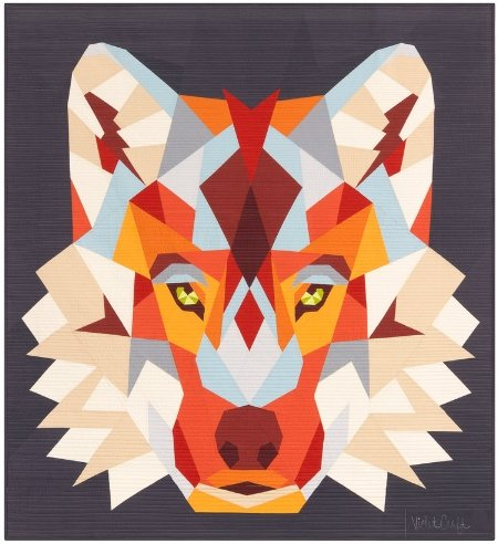 Wolf Abstractions Violet Craft