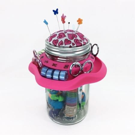 Tutu Mason Jar Sewing Caddy - Pink