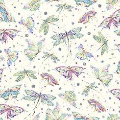 Mariposa - Butterflies & Dragonflies - Ecru