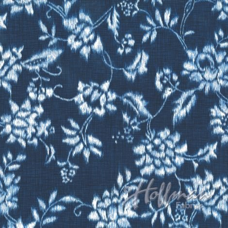 Hoffman Batik Indigo ssummer floral
