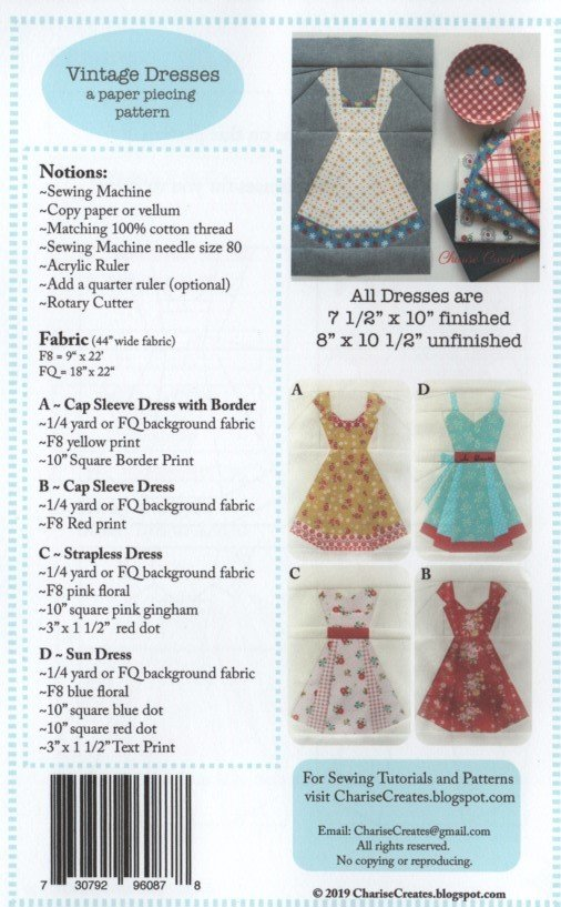 Vintage Dress Supplies