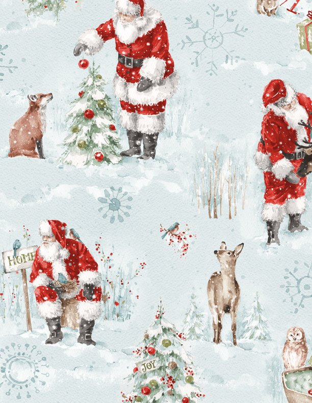 A Magical Christmas Large All Over Blue 86461 437