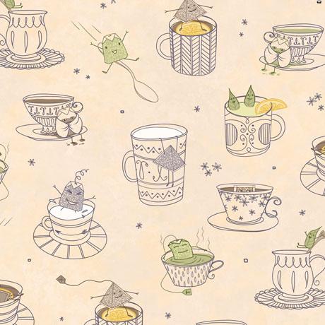 Tea-rrific Teacups Cream 25778 A