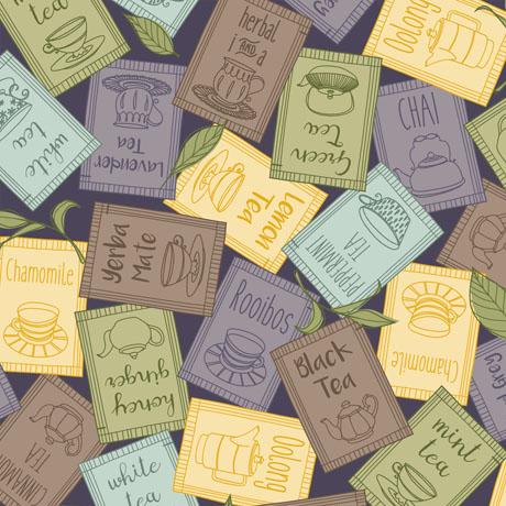 Tea-rrific Overlapping Tea Packets Purple 25779 V