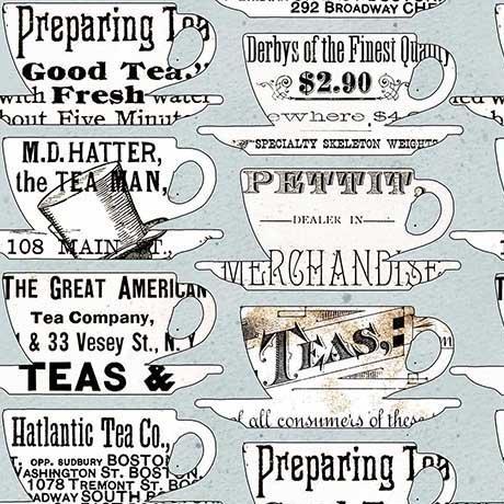 HATTERS TEA PARTY TEA CUPS BLUE 26152 B