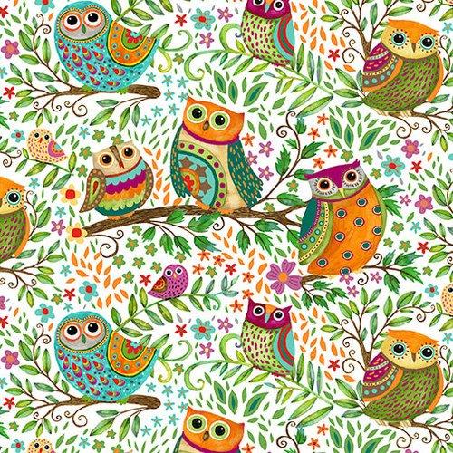 Spring Awakens Owls White 1512 61