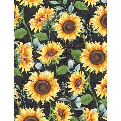Sundance Meadow Sunflowers Black