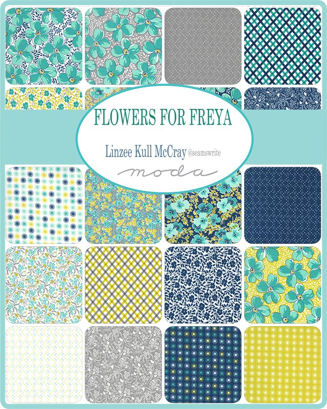 Flowers For Freya by Moda Fabrics Coming Jan 2021