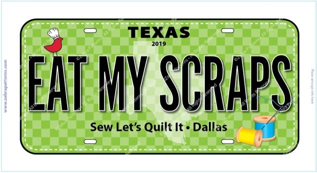 Eat My Scraps License Plate 2019