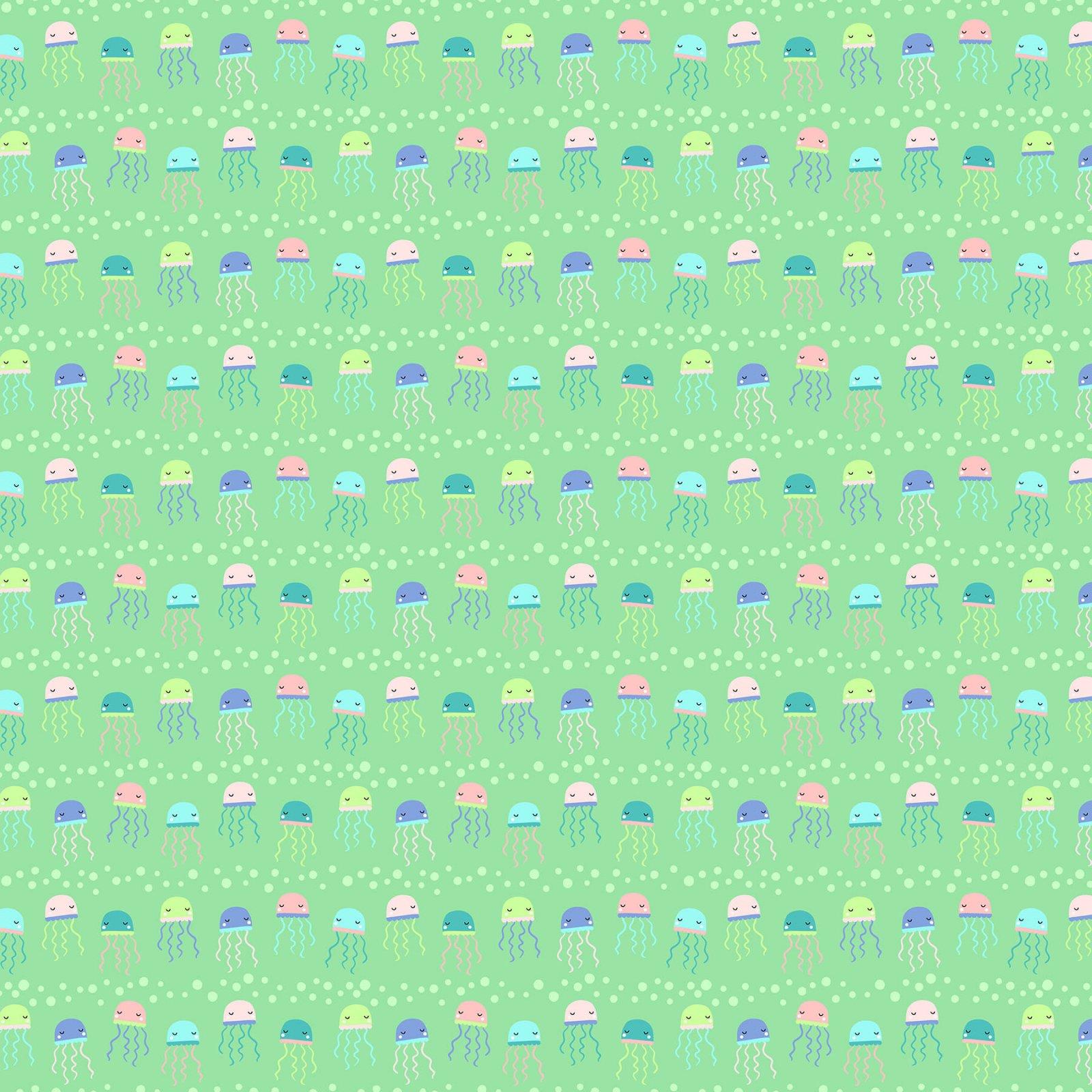Mermaid Kitties Green Jellyfish